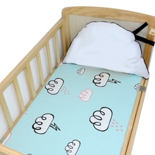 2019 Hot Sale 100% Cotton Fitted Crib Sheets Portable Bed Sheets Soft Skin-friendly Baby Bed Mattress Cover Baby Crib Sheets