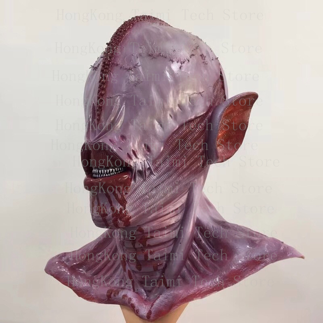 ALIEN XENOMORPH Resident Evil Licker Costume Mask Vampire Overhead Latex Masks Adults Skeleton xray skull Scary Horror Realista