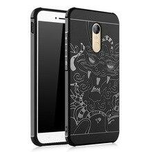 Для Xiaomi Редми Примечание 4X Случае 5.5 »Редми Note4x Крышка 3D резной Дракон Задняя Крышка Shell Матовая Силиконовая ТПУ Случаи Мобильного Телефона