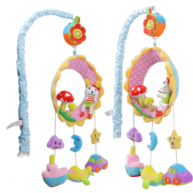 Baby Crib Hanging Stroller Toy Spinning Music Box cute animal Appeasing Sleep Friends 35 Famous Songs Development Toy Kids Gifts image