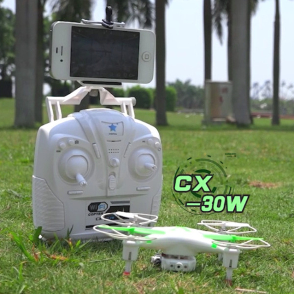 Drone with Camera FPV Cheerson CX-30 CX-30W WIFI Controlled RC Quadcopter UFO RTF with Iphone Real Time Transmission FPV FSWB cheerson cx 32s drone with 2mp camera lcd 4ch 6axis helicopter with fpv 5 8g video real time transmision hight hold aircraft