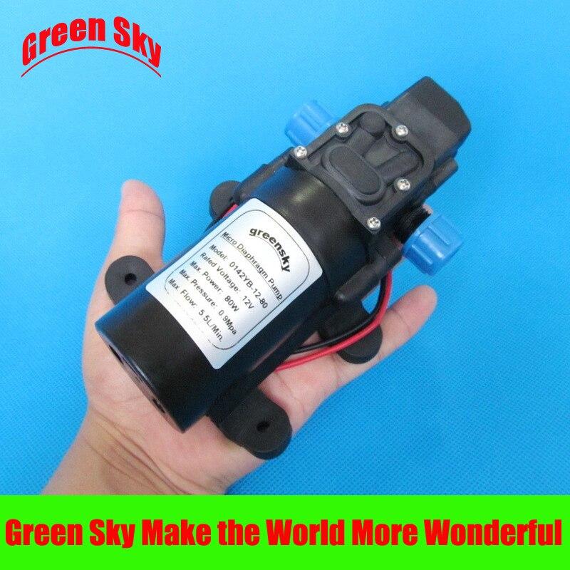 ФОТО 5.5L/Min 80W high pressure diaphragm water pump 12V DC water spray pump