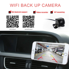 Carsanbo 12V Wireless Wifi Car Rear Camera HD Wireless Car Reverse Camera Parking Assistance For Android For IOS Phones upgrade wifi in car backup rear view reversing camera vechile wireless cam hd for android ios device for any car styling 12v