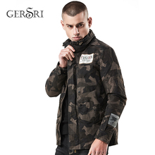 Gersri Men Winter Autumn Military style Jacket Cotton Embroidery Fashoin New Keep-Warm Coat Commuter Windproof Outerwear