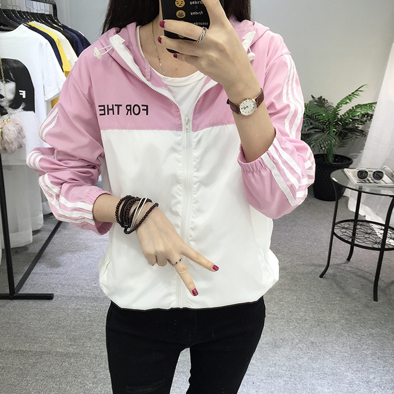 1ae6cc5266c Cheap Nuevas chaquetas de mujer 2019 con capucha Windbreak moda delgada de  verano chaqueta de protección