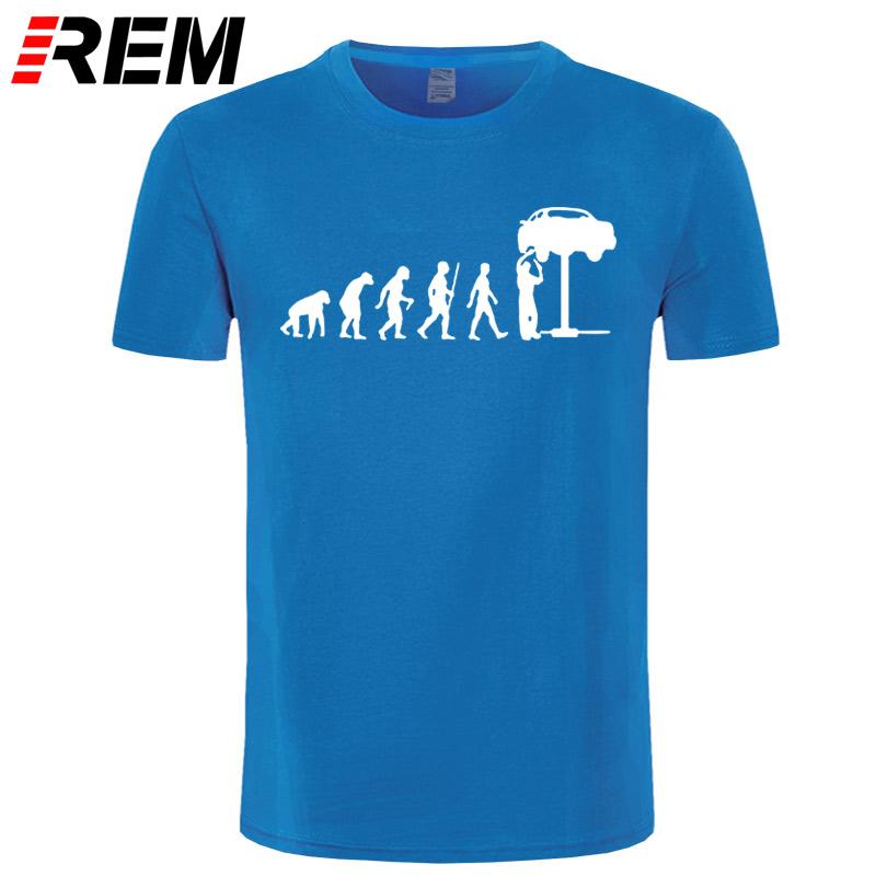 HTB152VfeQ.HL1JjSZFuq6x8dXXa4 - REM Summer Style Evolution Auto Mechaniker Mechanic Car T-Shirt Tops Funny Gift T Shirt For Men Tee