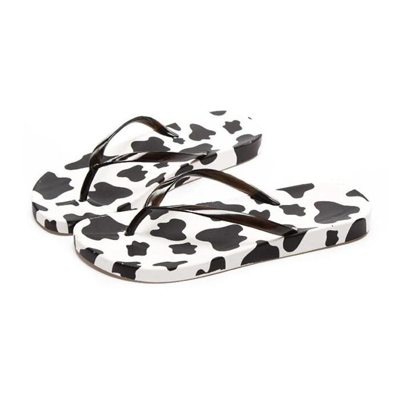 Hot 2016 Summer style Cow casual flip-flops Female <font><b>Cool</b></font> Slippers Beach Antiskid <font><b>Pinch</b></font> Flat Women slippers Ssandalias Mujer