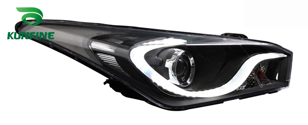 Paire de phares de voiture pour HYUNDAI HB20 2013 pièces de phares de réglage lentille de projet bi-xénon avec feux de jour