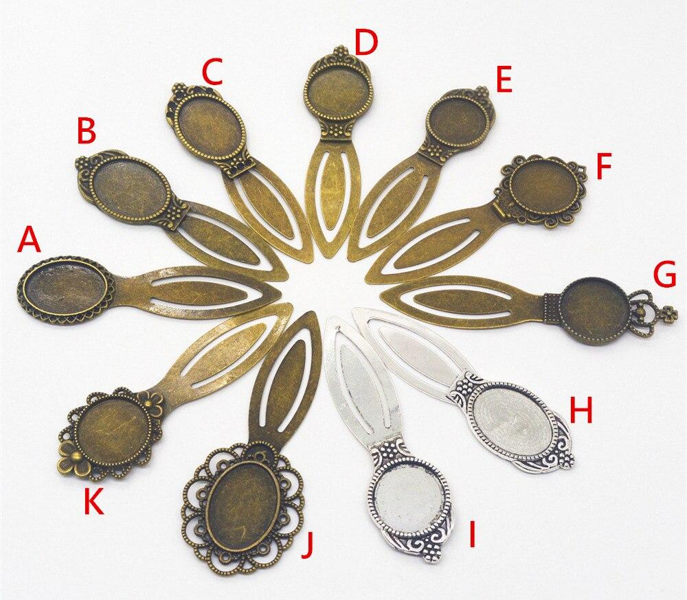 Jiangzimei 50pcs/lot flower, crown Antique book 18mm,20mm,18*25mm cabochon Bracelets necklace Earrings Jewellery Making