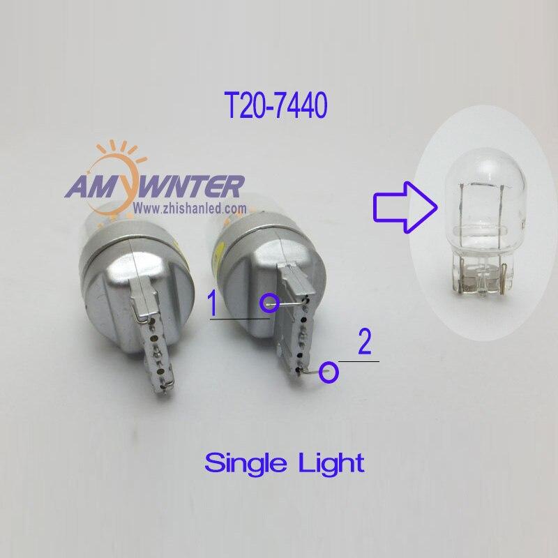 AMYWNTER 7440 7444 Առաջնորդված մեքենայի լամպ - Ավտոմեքենայի լույսեր - Լուսանկար 5