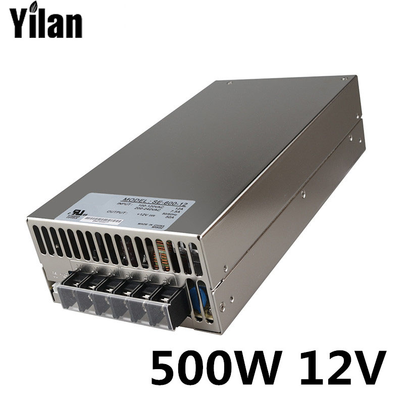 500W 12V 40A 220V INPUT Single Output Switching power supply for LED Strip light AC to DC 1200w 12v 100a adjustable 220v input single output switching power supply for led strip light ac to dc