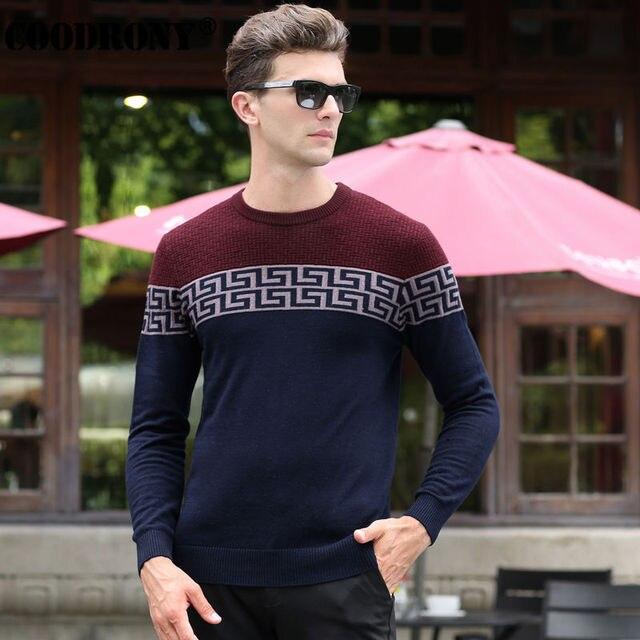 O Envio gratuito de Homens Quentes de Inverno 100% Cashmere Puro Camisola Do Natal Dos Homens Reais de Lã Merino Camisola Moda Pullover O-pescoço Dos Homens 6345
