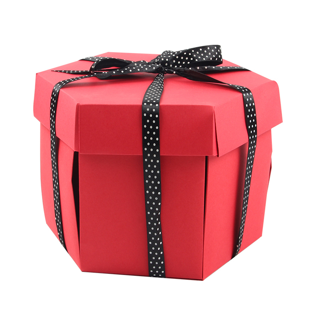 Muti-layered Card Creative Hexagon Surprise Explosion Cardboard Box DIY Scrapbook Photo Album Valentine Wedding Small Gift Box