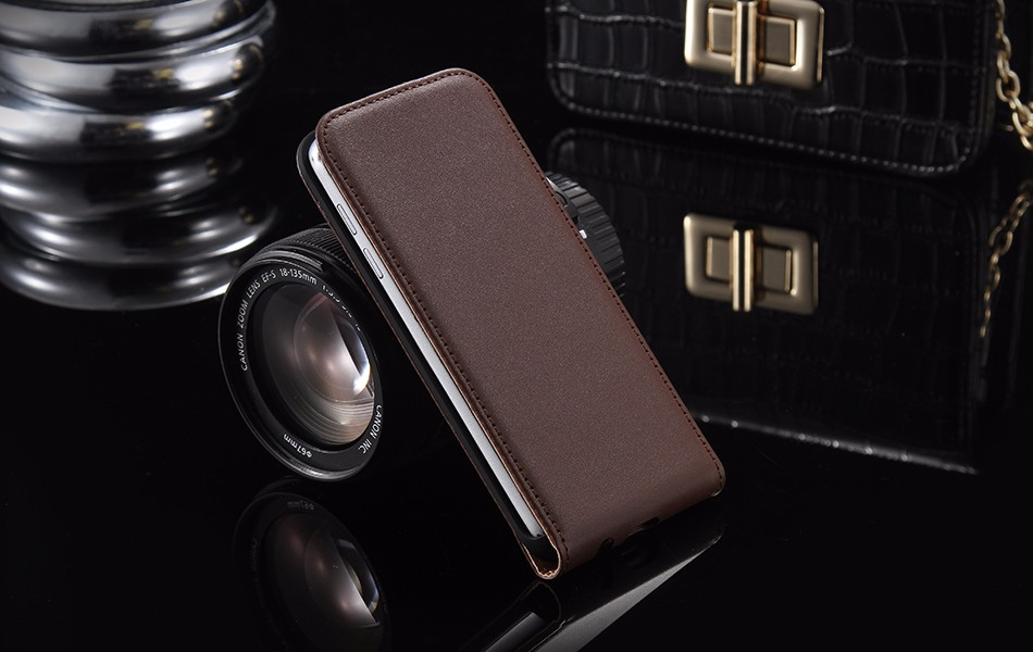 Hot Retro Genuine Leather Case for iPhone 5S I5 4S 4 Luxury Vertical Magnetic Flip Phone Accessories Real Full Cover For Iphone5 1 (8)