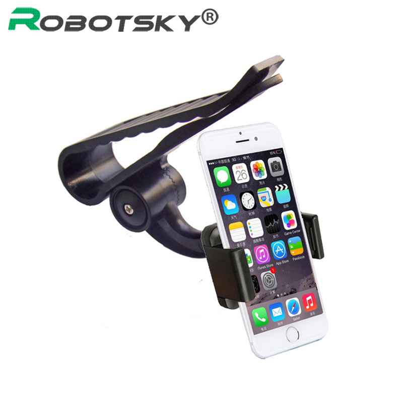 Mobile Phone Car Holder 360 Rotating Sun Visor Cell Phone Holder Stand For iPhone 6S 7 8 Plus X For Samsung GPS Mobile Support