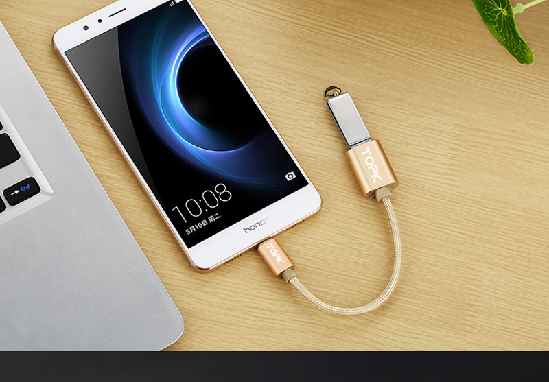 TOPK Micro USB 2.0 OTG Cable And USB OTG Adapter Or Converter Android Mobile Phones 15