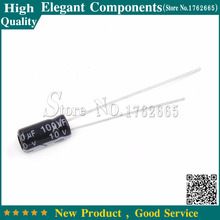 50 pièces 10 V/100 UF 100 UF 10 V condensateurs électrolytiques En Aluminium Taille 4*7 MM 10 V 100 UF condensateur Électrolytique