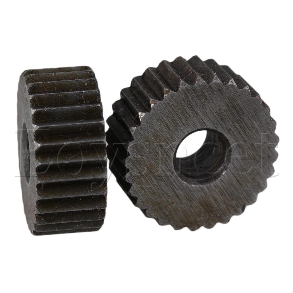 2 Picecs 2mm Pitch Single Straight Linear Coarse Steel Knurling Wheel Knurl Tool
