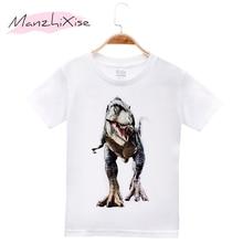 2019 New Arrival Children Clothes Kids T-shirts Animal Dinosaur 100% Cotton Child Boys Short T Shirt Baby Girls Tops Tees  4-12T цены
