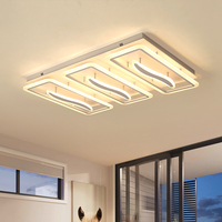 Surface Mount Chandelier Modern LED Hardware Acrylic Chandelier Lighting Fixtures Luminaire Plafonnier For Living Room Bedroom