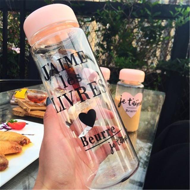 Summer Sports Cycling Camping Readily Space Health Lemon Juice Milk Water Bottle 500ml/350ml
