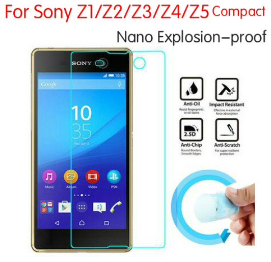 3x Newest Nano Explosion-proof Screen Protector Guard Foil Cover Film For Sony Xperia Z1 Z2 Z3 Z4 Z5 Compact Not Tempered Glass