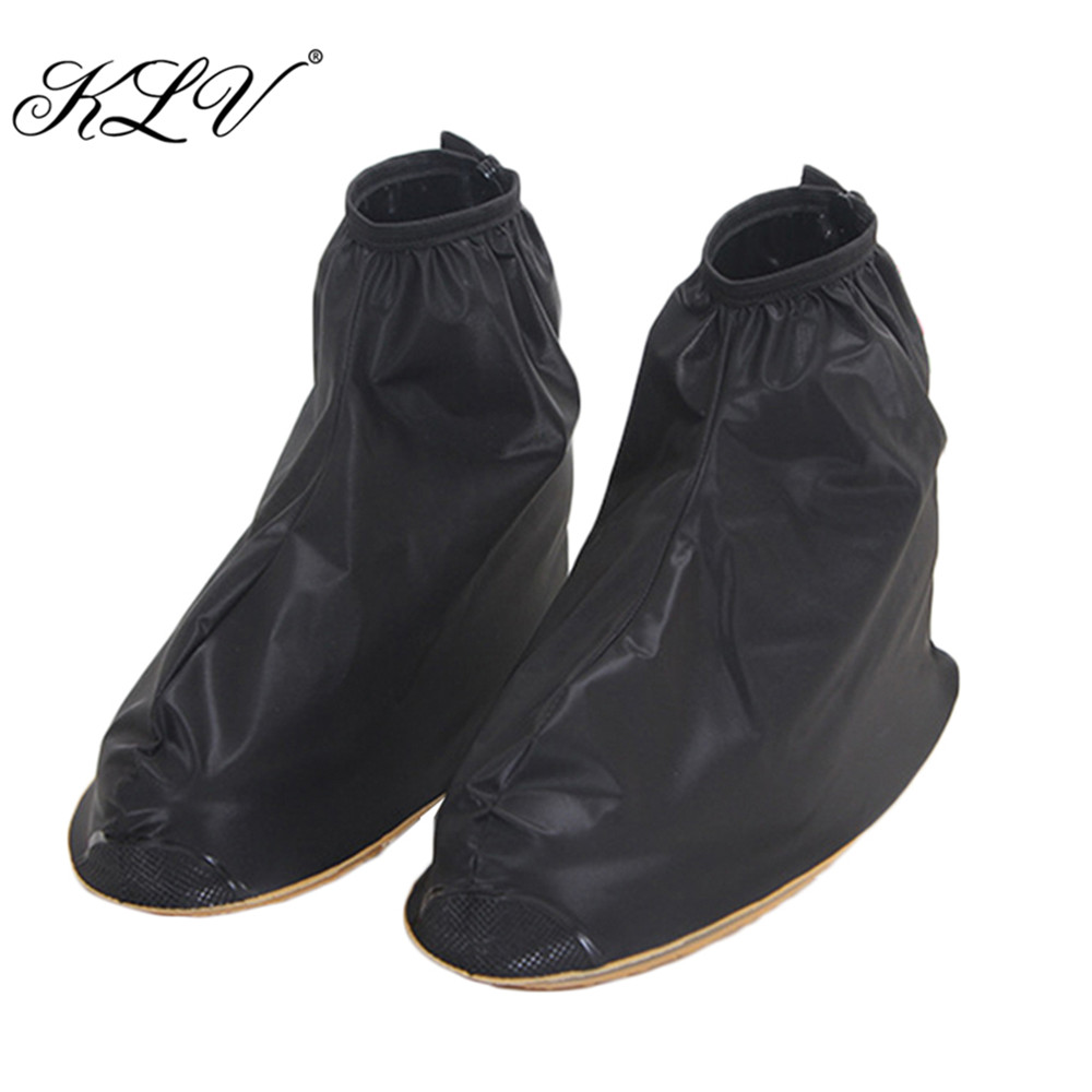 THINKTHENDO Waterproof Rain Shoes Cover Reusable Boots Flat Overshoes Covers Slip Resistant labor waterproof overshoes industrial working shoes cover factory rubber anti smashing protective safety shoes non slip