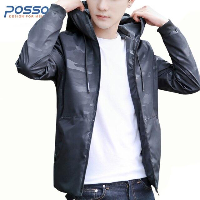 d958a2dffc180 Camo chaqueta con capucha hombres 2018 primavera y otoño moda chaquetas  Casual Coat ropa para hombres