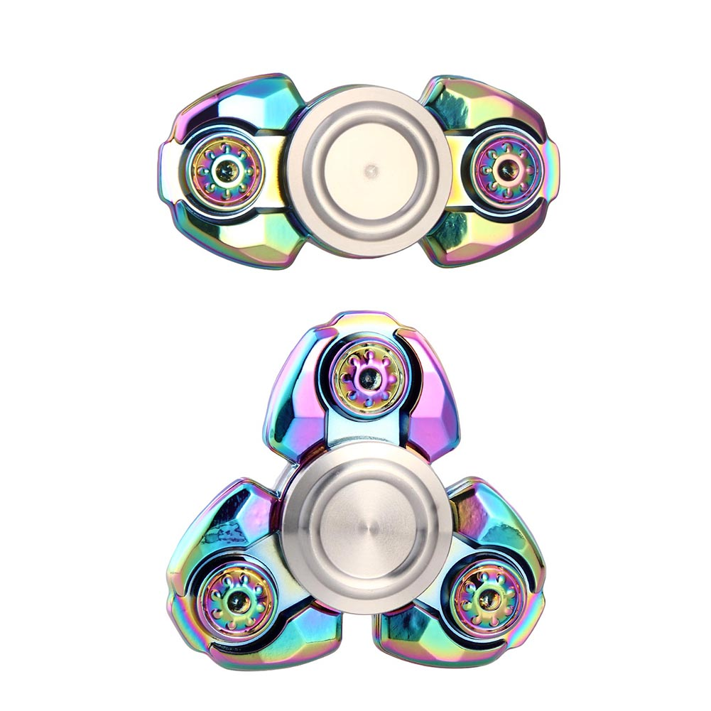 Russian Alloy Triangle Gyro Fidget Spinner Metal EDC Hand Finger Spinner For Autism ADHD Anxiety Stress