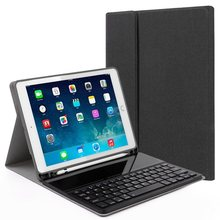 iPad Pro 11 2018 Keyboard Case with Pencil Holder,DEEKITE PU Leather Cover with Glass Key Bluetooth Keyboard For iPad Pro 11(China)