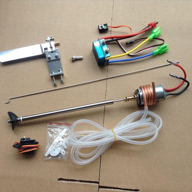 RC Boot Power Set 380 Motor + Welle Kit + Kupplung + 320A Pinsel ESC + 95mm Lenkung Ruder + M6 Outlet Wasser Mund + Stange + Rohr + Servo-in Teile & Zubehör aus Spielzeug und Hobbys bei AliExpress - 11.11_Doppel-11Tag der Singles 1