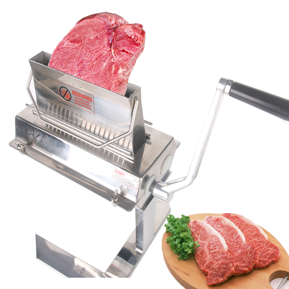 ITOP Manual 7'' Meat Tenderizer Stainless Steel Steak Beaf Tenderization Machine Commercial Kitchen Tools 14*2/20*2/37*2 Blades