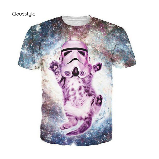 Kitty Cat Trooper Galaxy T-shirts 3D