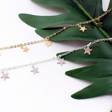 Gold Color Star Choker Necklace