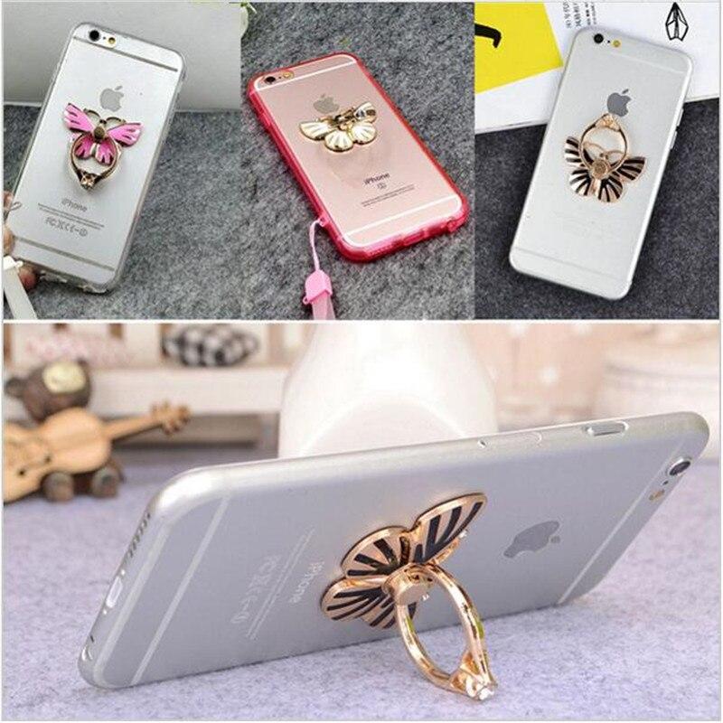 ТАК здорово! бабочка шаблон универсальный кронштейн падение сопротивления кольцо безымянный палец петли для iPhone6 6 S для Samsung Galaxy S3/4/5/6