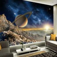 Beibehang Planet Erde Mars papel de parede 3d foto tapete für wohnzimmer wandbild wand papier sofa TV hintergrund papier peint