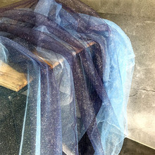 50 см* 150 см/шт. Фиолетовый и синий градиент звезда бронзовая посыпанная Золотая сетка Марля Перспектива фантазия цвет одежды дизайнер c