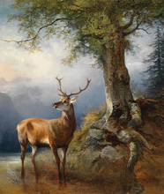 Deer Under of the Tree 5D DIY Diamond Painting Full Square  Embroidery Mosaic Animal Paintings From Crystals Needlework