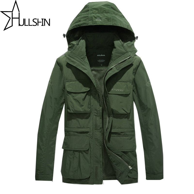 Army AFS JEEP Jacket 2017 Men Military Tactical Coat Winter Windproof Jackets Camouflage Clothing Sleeves disassembled 872