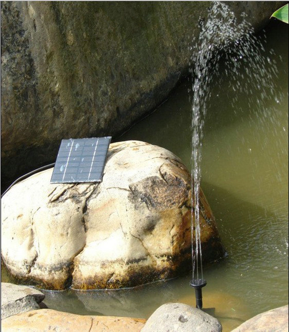 Solar Submersible Fountain 160 L/H Water Pump Kit System W/ 1.2W Solar Panel