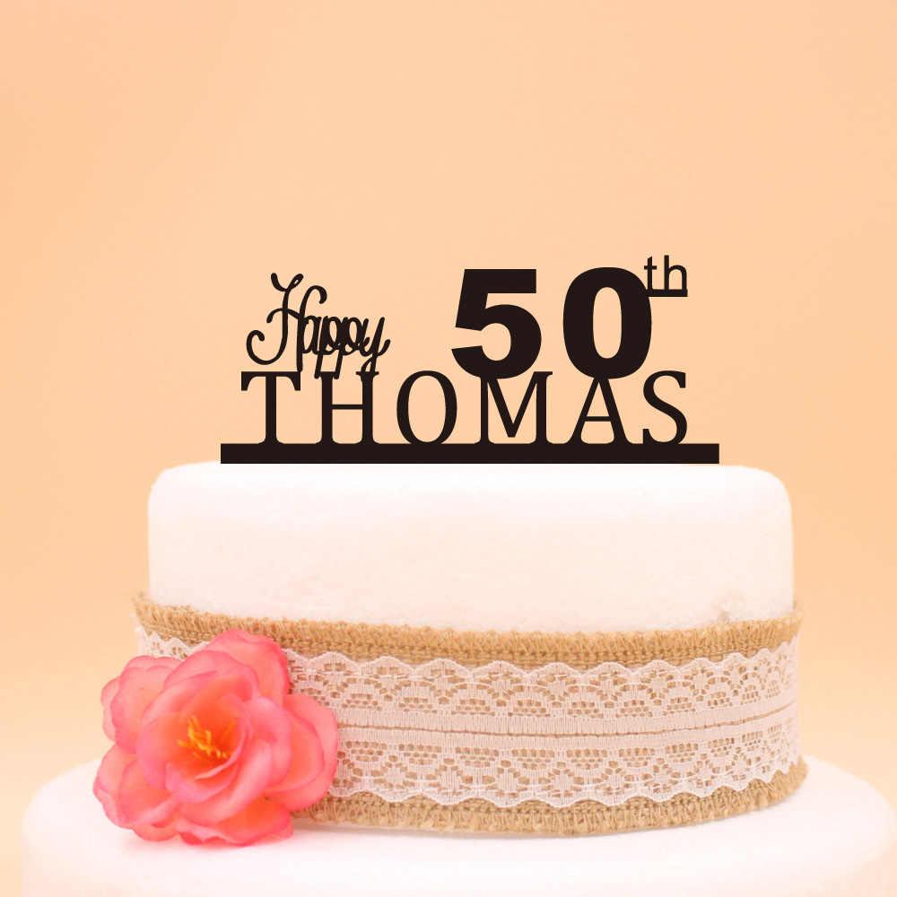 Phenomenal Happy 50Th Birthday Cake Topper Custom Name Cake Topper 50Th Funny Birthday Cards Online Aeocydamsfinfo
