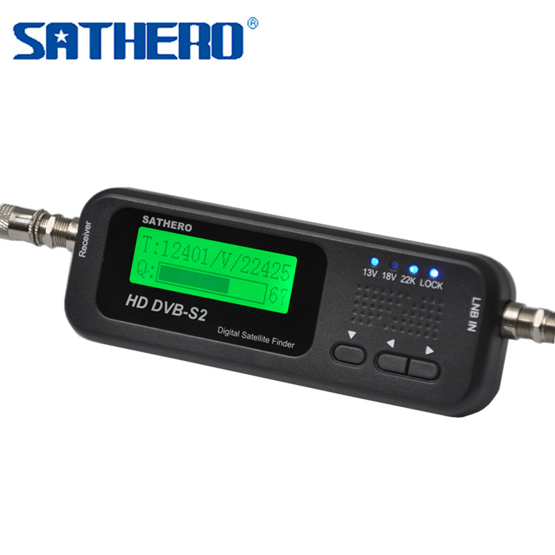 Sathero SH 100 HD DVB S2 Digital Satellite Finder Satellite Meter LCD Display USB 2 0