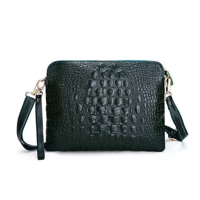 Women Shoulder Bag Female Fashion Handbags Leather Alligator Pattern Crossbody Women Messenger Bags Envelope Evening Clutch Bag
