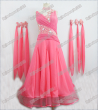 Free Shipping Modern Waltz Tango Ballroom Dance Dress, Smooth Ballroom Dress,Standard Ballroom Dress Girls B-0006