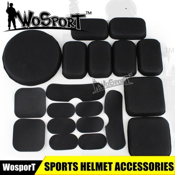 Universal Tactical Airsoft Helmet Accessories CS EVA Pads 19pcs set For FAST/ACH/MICH/Motorcycle
