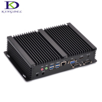 Intel 5th core i5 5250U i3 5005U Industrial mini pc with 2*COM HDMI VGA mini pc Barebone computer support windows 7/8/10 linux