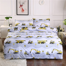 Traffic series of sex excavators home textile sets for comforter bedding Sheet, Pillowcase&Duvet Cover Sets 3&4 pcs