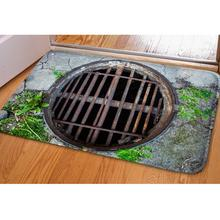 Creative Entrance Doormat Funny Rubber 3d Traps Printed Carpet for Floor Door Living Room Non-slip Kitchen Bathroom Mats 40x60cm