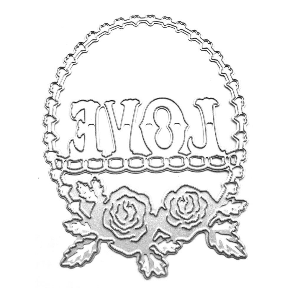 8.5*11.2cm New scrapbooking cute love lace shape DIY Metal steel cutting die sweet wedding Book photo album art card Dies Cut