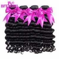 BFF GIRL Hair Malaysian Loose Deep Wave Hair Bundles 100% Human Hair Weave 3/4 Bundles 10 26 Inches Remy Hair Extensions